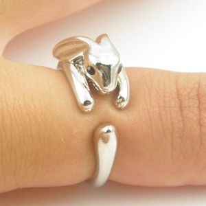 Jewelry - 🎁 Adjustable Polished Silver Rabbit Ring